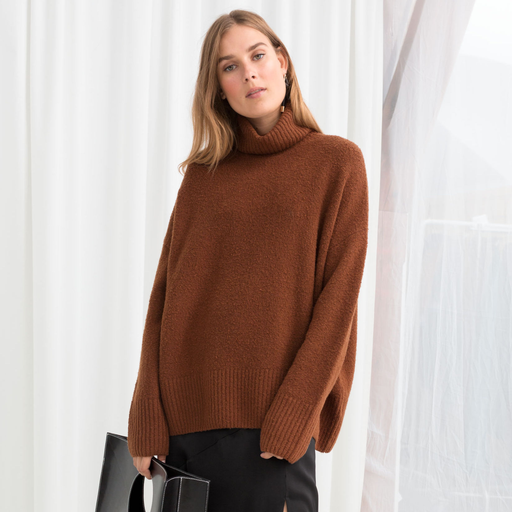 ALL-SORTS-OF-AND-OTHER-STORIES-TURTLENECK-SWEATER-BROWN