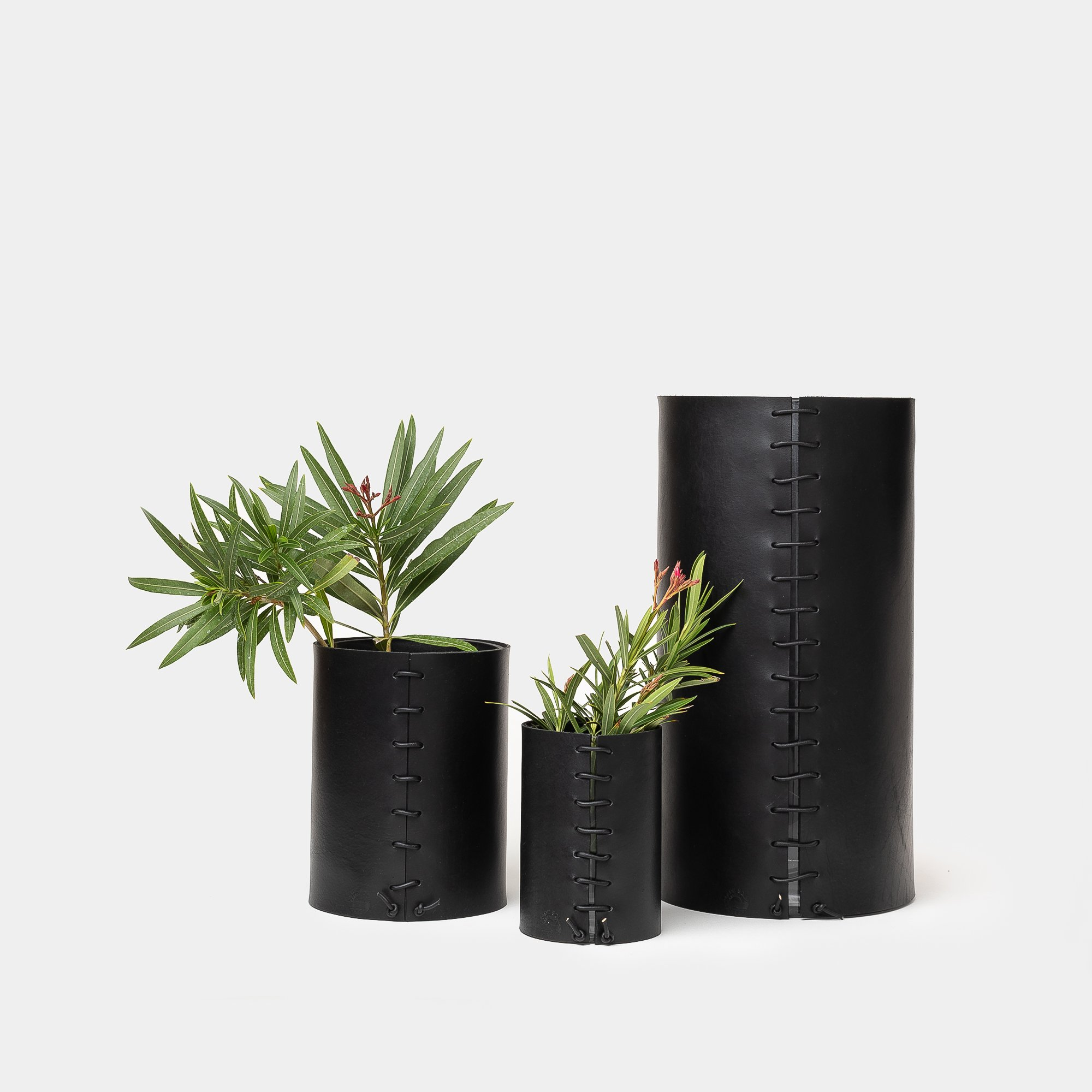ALL-SORTS-OF-SHOPPE-MADE-SOLID-LEATHER-WRAPPED-VASES-BLACK
